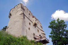 Landmark attraction in Brasov, Romania. White Tower Stock Image