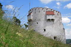 Landmark attraction in Brasov, Romania. White Tower Royalty Free Stock Photo