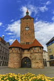 The white tower, Weisser Turm, in Nuremberg, Bavaria, Germany Stock Photos