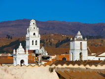 White towers of Sucre Royalty Free Stock Images
