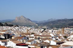 White town, Antequera, Spain. Royalty Free Stock Image