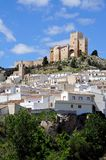 White town with castle, Velez Blanco. Royalty Free Stock Image