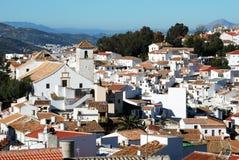 White town, Colmenar, Spain. royalty free stock image