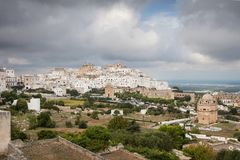 White town of Ostuni, Puglia, Italy royalty free stock image