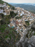 White town on the slope of a hill, La Iruela, Andalusia, Spain Stock Images