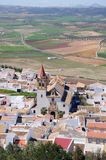 White town, Teba, Spain. Royalty Free Stock Images