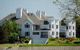 White Townhouses stock photo