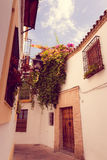 Streets in a white village of Andalucia, southern Spain Stock Photography