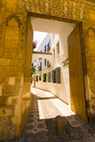 Streets in a white village of Andalucia, southern Spain Stock Image