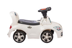 White toy car for kid Stock Photos
