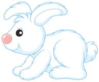 White toy hare Stock Images