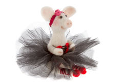 White toy pig in a tutu Royalty Free Stock Photos
