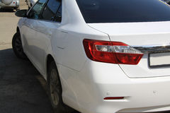 White toyota camry Royalty Free Stock Image