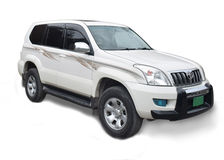 White toyota land cruiser prado Stock Photography