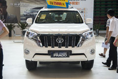 White toyota land cruiser prado car Royalty Free Stock Photos