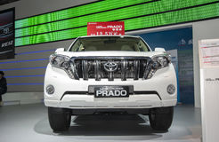 White toyota prado land cruise car Stock Images