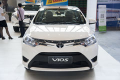 White toyota vios car Royalty Free Stock Photography