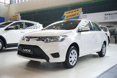 White toyota vios car Royalty Free Stock Photo