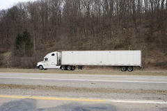 White Tractor Trailer Stock Photography