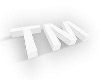White Trademark symbol Royalty Free Stock Photos