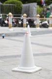 White traffic cone Royalty Free Stock Photo