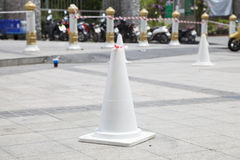 White traffic cone Royalty Free Stock Photography