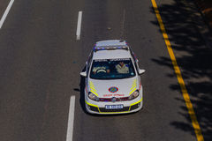 White Traffic Police Vehicle  Stock Images
