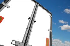 White trailer Royalty Free Stock Photo