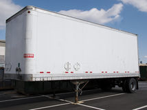 Free White Trailer Royalty Free Stock Image - 656286