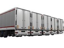 White trailer. On white background Royalty Free Stock Image
