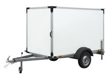 White trailer Royalty Free Stock Photos