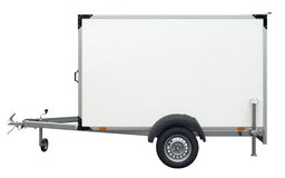 White trailer Stock Images