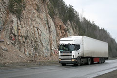 White trailer truck Royalty Free Stock Photo