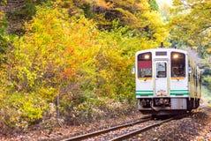 White train commuter Fukushima Japan Stock Images