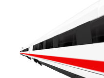 White train isolated view Royalty Free Stock Image