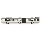 White trambus isolated Stock Photo