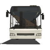 White trambus isolated Royalty Free Stock Photo
