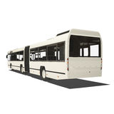 White trambus isolated Stock Photos