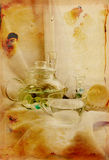 White and translucent still life Stock Photography