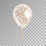 White transparent balloon on background. Frosted party balloons for event design. Balloons  in the air. Party decorations for birthday, anniversary Stock Image