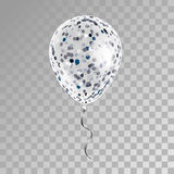 White transparent balloon on background. Stock Photo