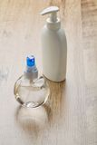 White and transparent bottles Stock Photos