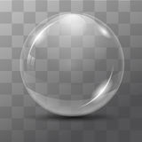 White transparent bubble. Lens. dew drops on a transparent background. Vector illustrations Royalty Free Illustration