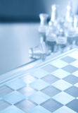 White transparent pieces of chess Royalty Free Stock Image