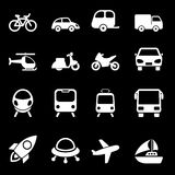 White Transport Icons Royalty Free Stock Images