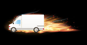 White transport truck car. A white transport truck car Stock Image