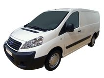 White transport van royalty free stock photo