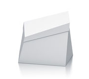 White trapezoid box. Royalty Free Stock Photos