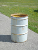 White trash can Royalty Free Stock Photo