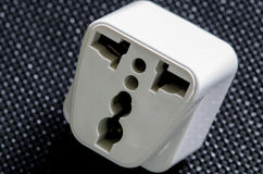 White Travel Power Adapter Royalty Free Stock Photo